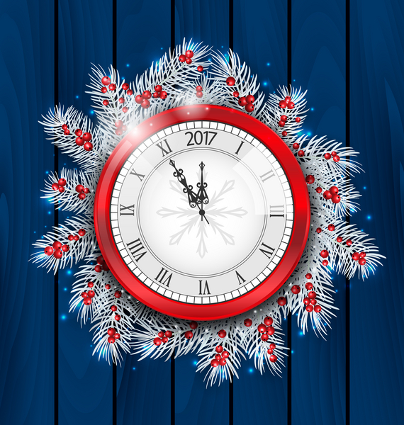 2017 New Year's clock