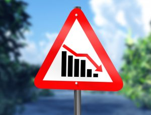 Downward trend warning sign